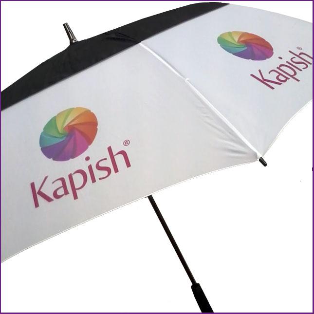 Sublimation printing on umbrella