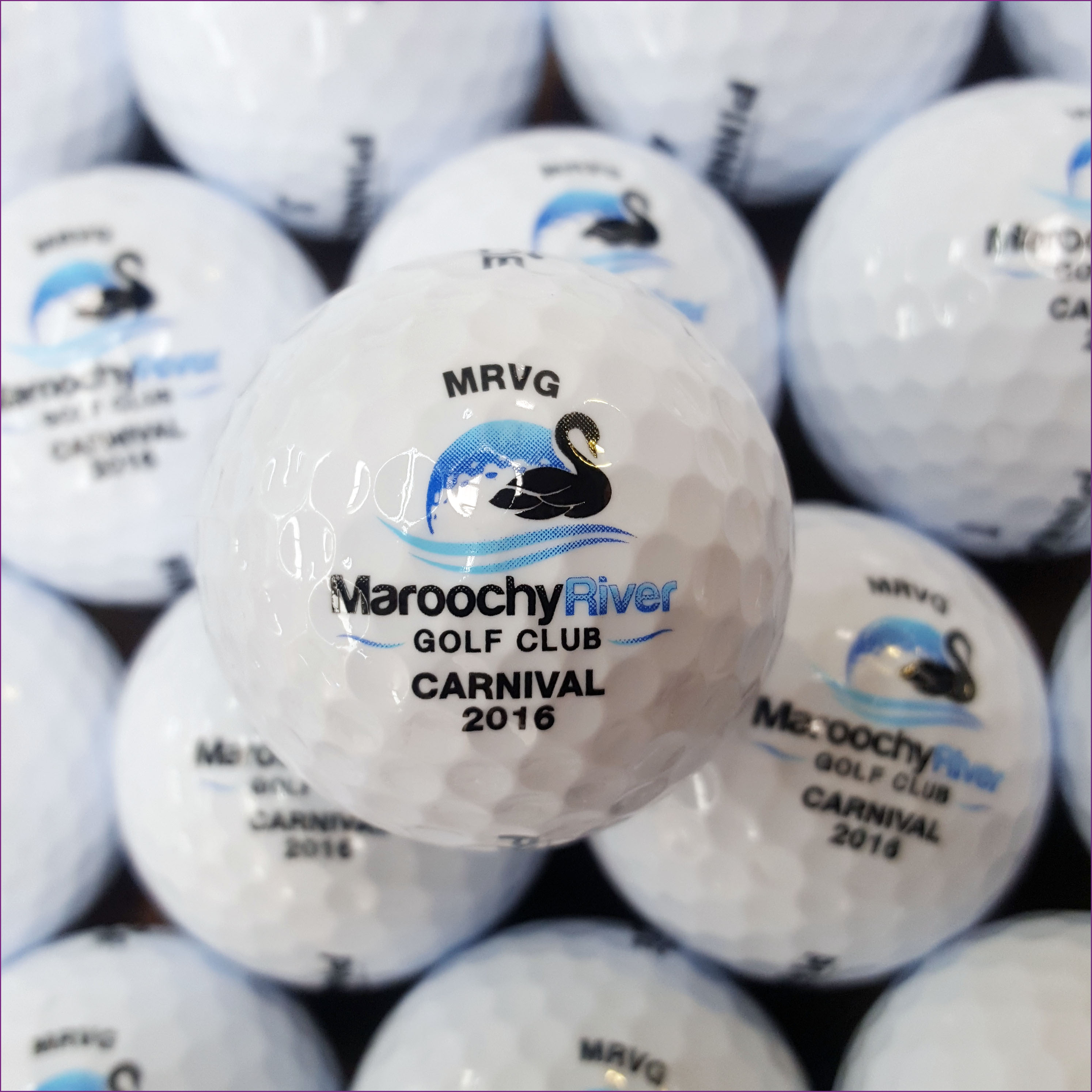 Pad printing on golf balls