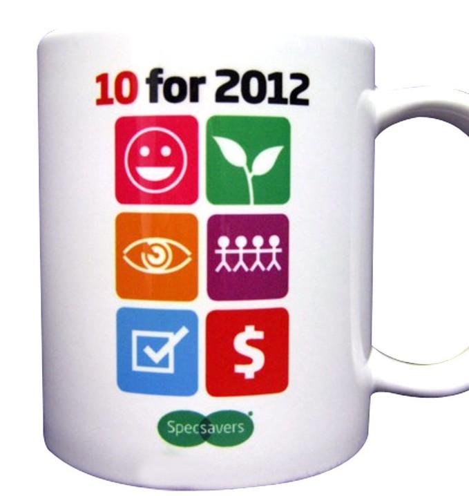 Sublimation print onto ceramic mug
