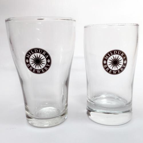 Pad print onto glasses