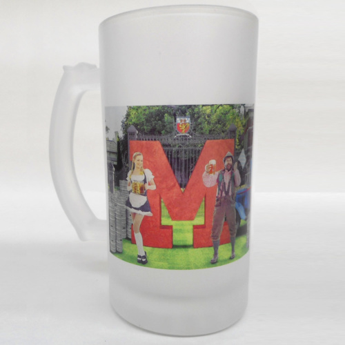 Sublimation print on beer stein